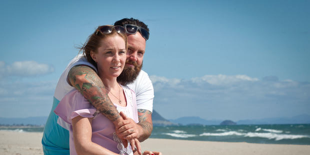 Brett Morrison with his late wife, Sarah. Photo/File.