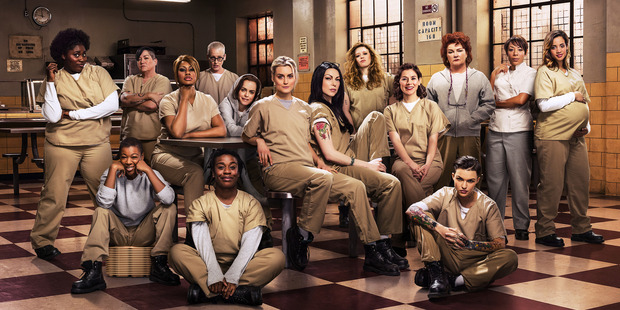 The cast from the television show Orange is the New Black.