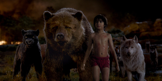 A scene from the movie, The Jungle Book.
