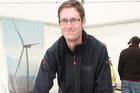 Ryan Piddington was ready to answer questions about the proposed Waverley Wind Farm at the 2012 Waverley A&P Show.