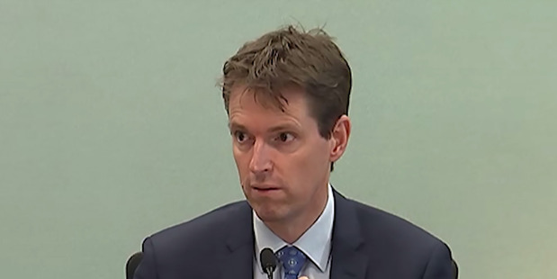 Colin Craig giving evidence in his defamation trial. Photo / Supplied
