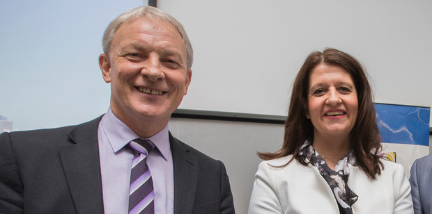 Auckland Mayoral candidates Phil Goff and Victoria Crone. Photo / Nick Reed