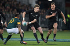 All Blacks 1st-five Beauden Barrett in action against South Africa during the Rugby Championship test match between New Zealand and South Africa. Photo / Brett Phibbs.