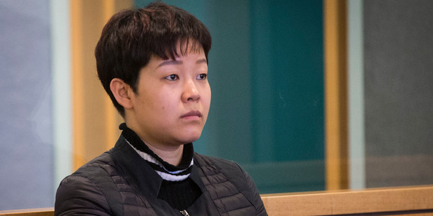 Yixin Gan appearing at the High Court in Auckland. Photo / Jason Oxenham