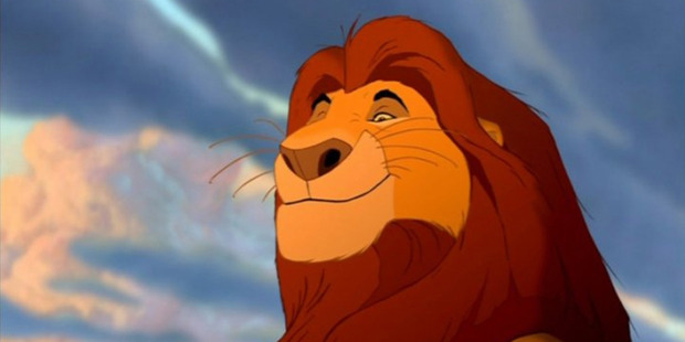 A scene from the Walt Disney animated cartoon The Lion King.
