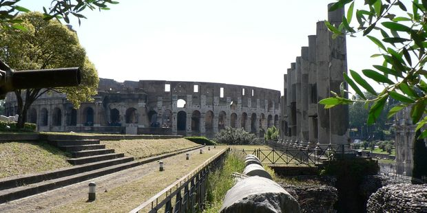 The woman was attacked in park near the Colosseum.