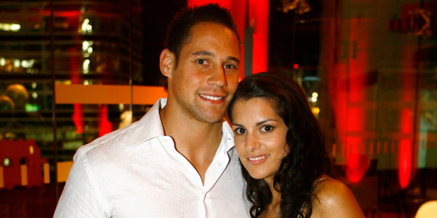 Luke McAlister and former wife Brooke pictured in March 2007.