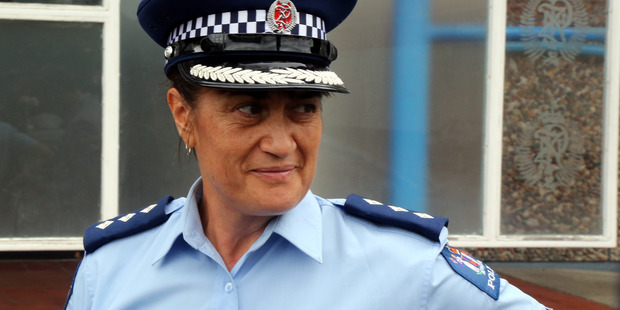 Hawkes Bay Area Commander Tania Kura has applauded her staff after they arrested a series of criminals on Friday and Saturday night. Picture: Stuart Munro