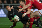 All Blacks halfback Aaron Smith in action against Wales earlier in the year. Photo / Brett Phibbs