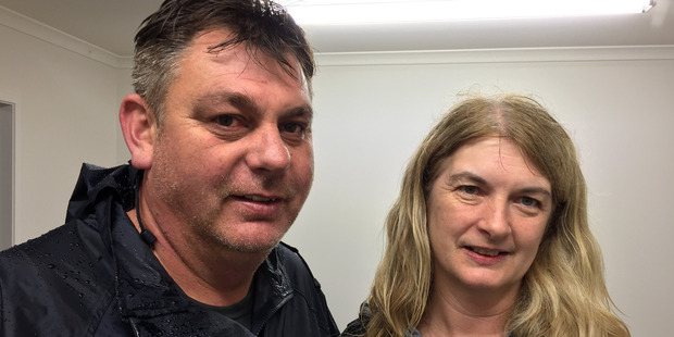 Catherine Tamati, mother of Luke Cochrane with husband Glenn Tamati (Luke's stepdad). Photo / Supplied