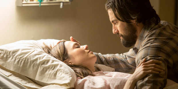 Mandy Moore as Rebecca, Milo Ventimiglia as Jack in the new NBC TV show This Is Us. Photo / NBC