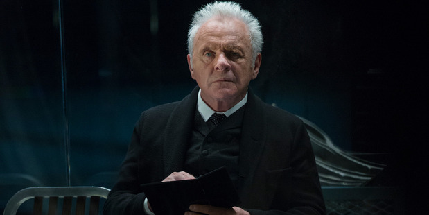 Sir Anthony Hopkins in a scene from the HBO series Westworld. Photo / HBO