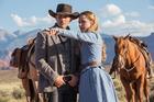 James Marsden and Evan Rachel Wood star in HBO's TV series, Westworld.