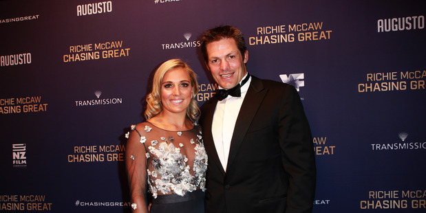 Gemma Flynn and Richie McCaw at the premiere of Chasing Great.  Photo / Norrie Montgomery