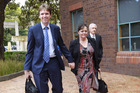 Colin Craig arrives in court with his wife Helen. Photo / Nick Reed