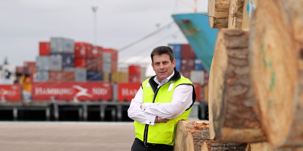 Napier Port chief executive Garth Cowie is signing a deal to re-open the rail line to Wairoa today. PHOTO/FILE