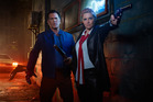 Lucy Lawless stars in Ash Vs. Evil Dead. Photo / Supplied