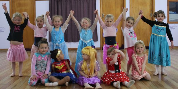 Pupils in the preschool dance class at the Melissa Martin Academy of Dance.