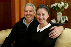 HAPPY: Hastings Mayor Lawrence Yule and wife Kerryn celebrate his re-election today. PHOTO WARREN BUCKLAND