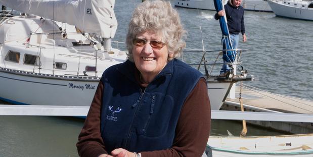 Joan Livingstone is the first female commodore of Whangarei Cruising Club. Photo/John Stone