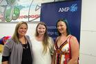 Far North regional AMP scholarship winner Ciaran Torrington (Kaitaia, centre), with finalists Sarah Sorensen (Kerikeri, left) and Dominique Heileson (Kaeo). Photo / Sandy Myhre