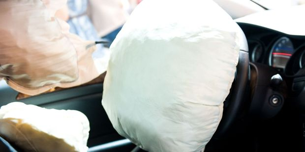 Airbag systems consist of an accelerometer, circuit and heating element combined with an explosive charge and a porous nylon bag. Photo / 123RF