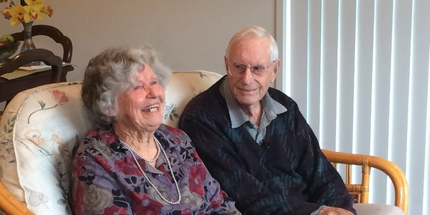 Elaine and Ron Ward were all smiles when they received their ABS Good as Gold award. Photo/supplied