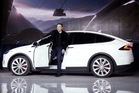 Elon Musk, CEO of Tesla Motors Inc., introduces the Model X car at the company's headquarters in Fremont, Calif. Photo / AP