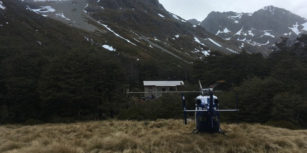The Nelson Marlborough Rescue Helicopter rescued a young tramper who hurt her foot while tramping in the Nelson Lakes National Park on Sunday. Photo/ supplied