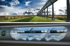 A concept picture of the crazy-fast Hyperloop transport system that is the brainchild of Elon Musk. Photo / AP