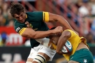 Eben Etzebeth is world class but the Springboks generally lack sting. Picture / AP