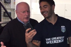 Home and Away's Ray Meagher and Warriors halfback Shaun Johnson.