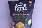 Copper Kettle Chips Wagyu Beef and Wasabi Cream $3.99 for 150g. Photo / Wendyl Nissen