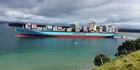 Watch: Massive container ship enters Tauranga Harbour