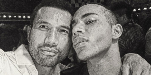 Casey Laulala with Olivier Rousteing. Photo / Instagram