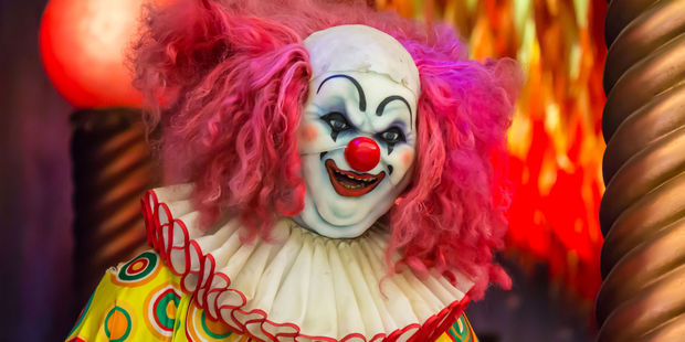 Clowns are reportedly luring children into the woods. Photo / 123rf