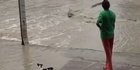 Watch: Watch: How not to be crocodile safe - woman chases away crocodile with jandal