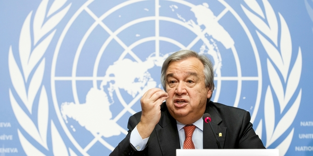 Antonio Guterres served for 10 years as the UN High Commissioner for Refugees. Picture / AP