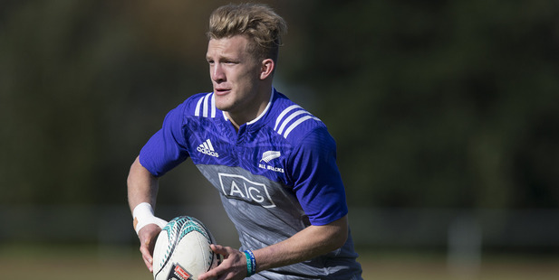 Loading All Blacks outside back Damian McKenzie has been putting in reps at halfback. Photo / Brett Phibbs