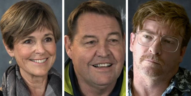 Judy Bailey, Steve Hansen and Rhys Darby all took part in the I Know This To Be True documentary. Photo / TVNZ
