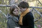 Amanda Knox and her boyfriend Raffaele Sollecito in 2007, captured by news footage. Photo / Netflix