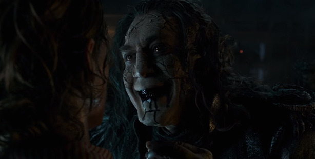 A scene from the movie, Pirates of the Caribbean film: Dead Men Tell No Tales.
