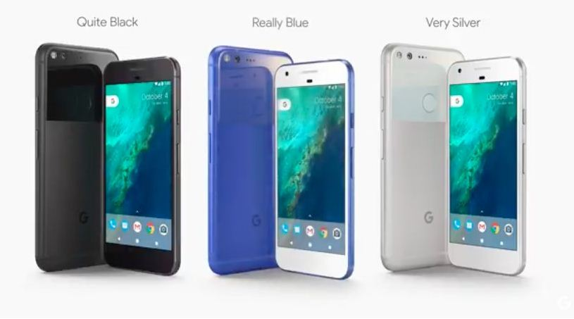 Google's smartphone line called Pixel will come in three colours.