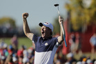 United States' Brandt Snedeker reacts on the 16th hole during a singles match at the Ryder Cup. Photo / AP