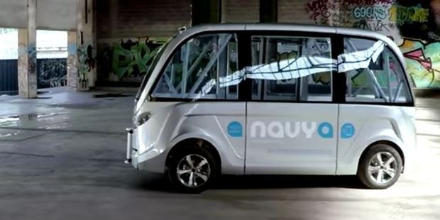 Loading The driverless transport shuttle will soon be zipping around the grounds of Christchurch Airport. Photo / YouTube