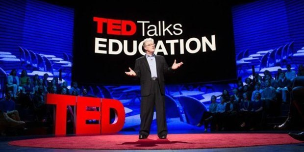 """Sir Ken Robinson, presenter of the most popular TED talk of all time, """"Do Schools Kill Creativity?"""" dropped this truth. Photo / TED Talks"""