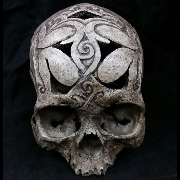 A Kenyah carved tribal skull from Borneo. Photo / skullstore.ca