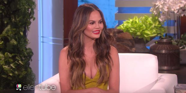 Chrissy Teigen confessed on The Ellen DeGeneres Show that she doesn't know how to get Rihanna's mail to her. Photo / Ellentube