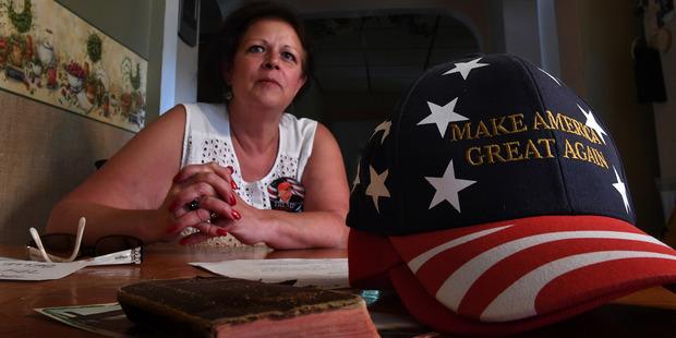Melanie Austin sits in her kitchen at home near Brownsville, Pennsylvania. Photo / Washington Post
