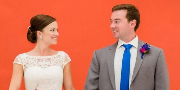 Newlyweds Kathleen and Doug Dietz, of Virginia.  Photo / Gofundme